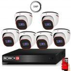 5 MegaPixel Provision AHD-20 Dome 6 kamerás kamera rendszer