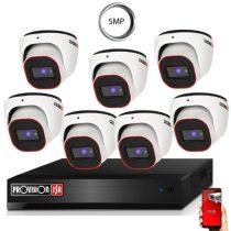 5 Megapixel Provision AHD-20 Überwachungssystem mit 7 Dome Kamera 2592x1944P
