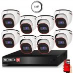 5 MegaPixel Provision AHD-20 Dome 8 kamerás kamera rendszer