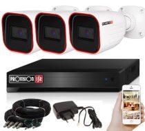5 MegaPixel Provision AHD-30 3 kamerás megfigyelő kamerarendszer