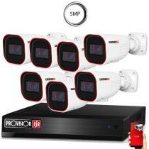 5 MegaPixel Provision AHD-30 7 kamerás megfigyelő kamerarendszer