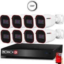 5 MegaPixel Provision AHD-30 8 kamerás megfigyelő kamerarendszer