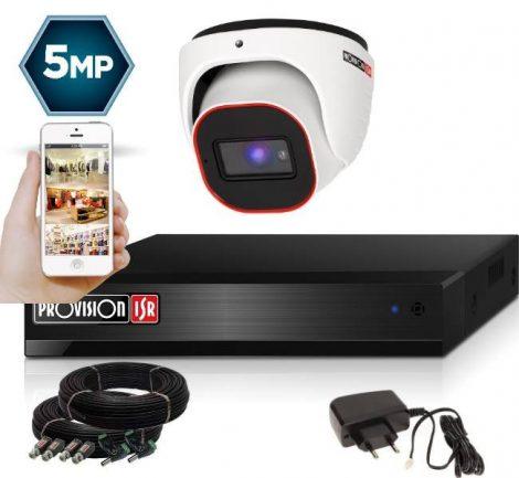 5 Megapixel Provision AHD-30 Überwachungssystem mit 1 Dome Kamera 2592x1944P