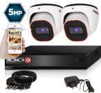 5 MegaPixel Provision AHD-30 Dome 2 kamerás kamera rendszer