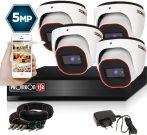 5 MegaPixel Provision AHD-30 Dome 4 kamerás kamera rendszer
