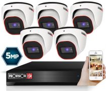 5 Megapixel Provision AHD-30 Überwachungssystem mit 5 Dome Kamera 2592x1944P