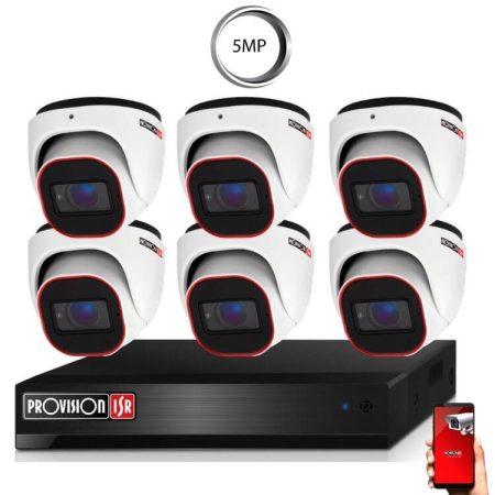 5 Megapixel Provision AHD-30 Überwachungssystem mit 6 Dome Kamera 2592x1944P