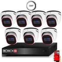 5 MegaPixel Provision AHD-30 Dome 7 kamerás kamera rendszer