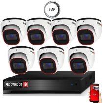 5 Megapixel Provision AHD-30 Überwachungssystem mit 7 Dome Kamera 2592x1944P