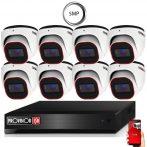 5 MegaPixel Provision AHD-30 Dome 8 kamerás kamera rendszer