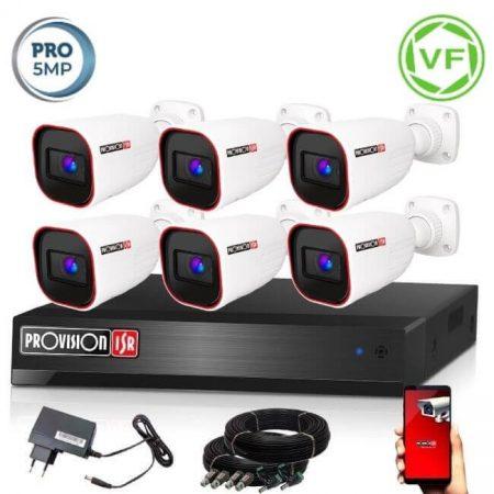 5 MegaPixel Provision AHD-40 6 kamerás megfigyelő kamerarendszer