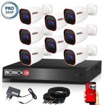 5 MegaPixel Provision AHD-40 8 kamerás megfigyelő kamerarendszer