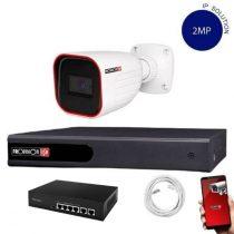 Provision IP Überwachungssystem mit 1 Kamera FullHD 2 Megapixel Auflösüng