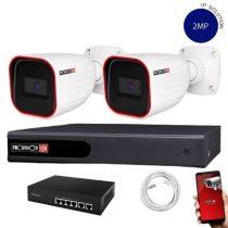 Provision Full HD 2 kamerás IP kamera rendszer 2MP