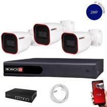 Provision Full HD 3 kamerás IP kamera rendszer 2MP