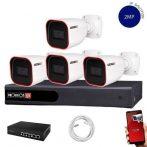 Provision Full HD 4 kamerás IP kamera rendszer 2MP