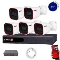 Provision IP Überwachungssystem mit 5 Kamera FullHD2 Megapixel Auflösüng