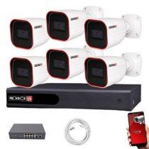 Provision IP Überwachungssystem mit 6 Kamera FullHD 2 Megapixel Auflösüng