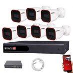 Provision IP Überwachungssystem mit 7 Kamera FullHD2 Megapixel Auflösüng