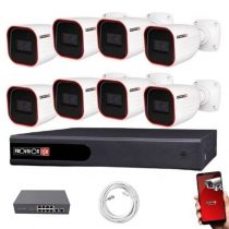 Provision IP Überwachungssystem mit 8 Kamera FullHD2 Megapixel Auflösüng