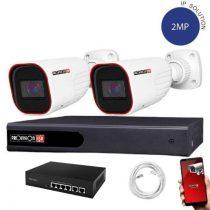Provision IP Überwachungssystem mit 2Varifocal Kamera 2 Megapixel Auflösüng