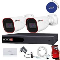 Provision IP kamera rendszer Full HD 2 MegaPixel 2 kamerás