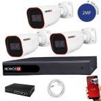 Provision IP kamera rendszer Full HD 2 MegaPixel 3 kamerás