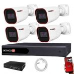 Provision IP Überwachungssystem mit 4Varifocal Kamera 2 Megapixel Auflösüng