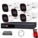 Provision IP kamera rendszer Full HD 2 MegaPixel 5 kamerás