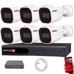 Provision IP kamera rendszer Full HD 2 MegaPixel 6 kamerás