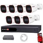 Provision IP kamera rendszer Full HD 2 MegaPixel 7 kamerás