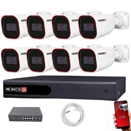Provision IP Überwachungssystem mit 8Varifocal Kamera 2 Megapixel Auflösüng