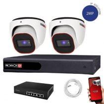 Provision FullHD dome IP 2 kamerás rendszer