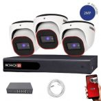 Provision FullHD dome IP 3 kamerás rendszer