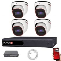 Provision FullHD dome IP 4 kamerás rendszer