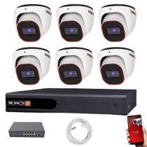 Provision FullHD dome IP 6 kamerás rendszer