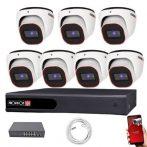 Provision FullHD dome IP 7 kamerás rendszer