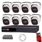 Provision FullHD dome IP 8 kamerás rendszer