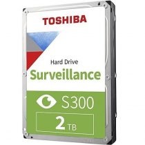 """Toshiba Belső HDD 3.5"""" - S300 Surveillance 2TB (Bulk; Biztonságtechnikai rögzítőkbe; 128MB / 5400RPM)"""