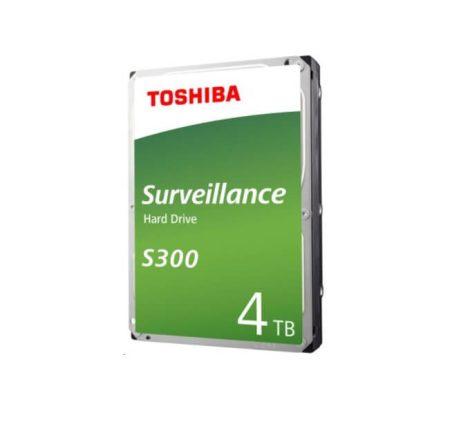 """Toshiba Belső HDD 3.5"""" - S300 Surveillance 4TB (Bulk; Biztonságtechnikai rögzítőkbe; 128MB / 5400RPM)"""