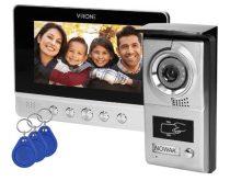 Charon Videó kamerás kaputelefon 7 col kijelzővel RFID olvasóval VDP-40
