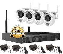 CS200W 2MP Wifi kamerarendszer füstérzékelővel és szirénával