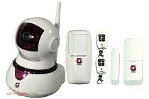 Beltéri IP WiFi kamera és 64 zónás riasztó szett WIPC1A