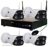 Vezeték nélküli IP kamera rendszer ZB-WN204-1.0MP