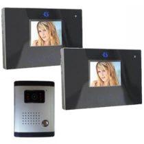 Színes videó kamerás kaputelefon szett 2 db 3,5 lcd monitorral