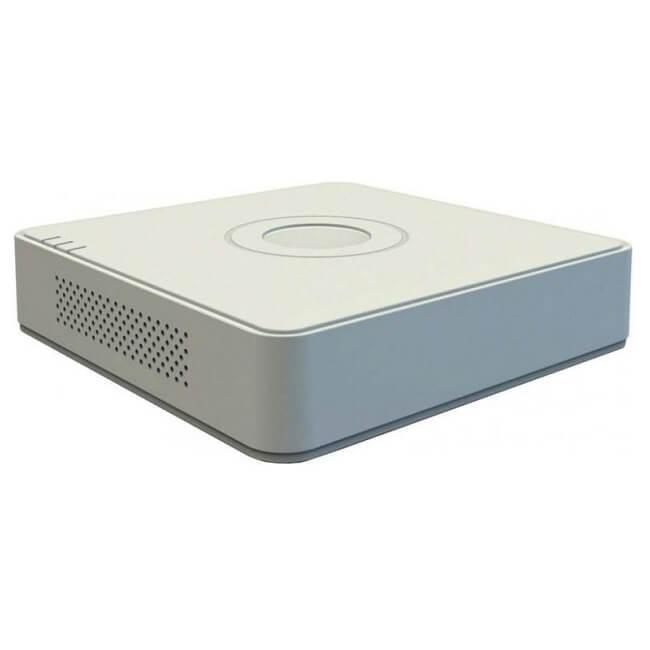 Hikvision DVR rögzítő - DS-7204HUHI-K1/E (4 port, 5MP/12fps, 4MP/15fps, 2MP/25fps, H265+, 1x Sata, Audio, I/O)