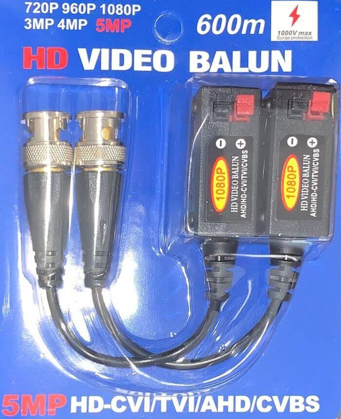 BNC UTP video balun átalakító 1pár 2db