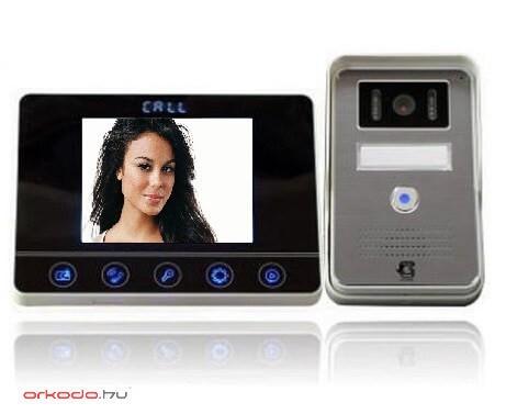 """Színes videó kamerás kaputelefon szett 3,5"""" TFT monitorral"""