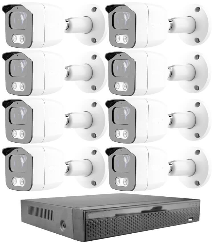KPC Ts23 - 8 kamerás éjjellátó kamera rendszer HD 1280X720P felbontás