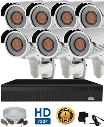AHD-42 7 kamerás megfigyelő kamerarendszer 5X ZOOM HD 1280X720 felbontásban